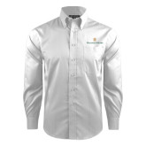Red House White Dobby Long Sleeve Shirt-William and Mary