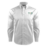 Red House White Dobby Long Sleeve Shirt-W&M Alumni
