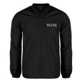 V Neck Black Raglan Windshirt-W&M