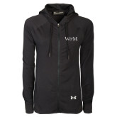 Ladies Under Armour Black Varsity Full Zip Hoodie-W&M