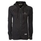 Ladies Under Armour Black Varsity Full Zip Hoodie-William and Mary