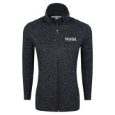 Black Heather Ladies Fleece Jacket-W&M