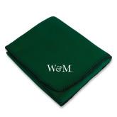 Dark Green Arctic Fleece Blanket-W&M
