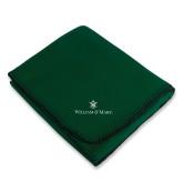 Dark Green Arctic Fleece Blanket-William and Mary