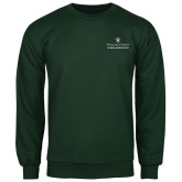 Dark Green Fleece Crew-Alumni Association Stacked