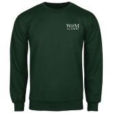 Dark Green Fleece Crew-W&M Alumni