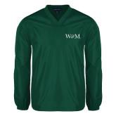 V Neck Dark Green Raglan Windshirt-W&M