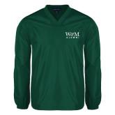 V Neck Dark Green Raglan Windshirt-W&M Alumni