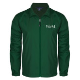 Full Zip Dark Green Wind Jacket-W&M