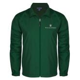 Full Zip Dark Green Wind Jacket-William and Mary