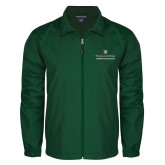 Full Zip Dark Green Wind Jacket-Alumni Association Stacked
