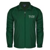 Full Zip Dark Green Wind Jacket-W&M Alumni