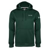 Under Armour Dark Green Performance Sweats Team Hoodie-W&M