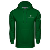 Under Armour Dark Green Performance Sweats Team Hoodie-William and Mary