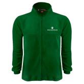 Fleece Full Zip Dark Green Jacket-William and Mary