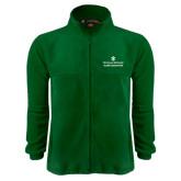 Fleece Full Zip Dark Green Jacket-Alumni Association Stacked