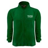 Fleece Full Zip Dark Green Jacket-W&M Alumni