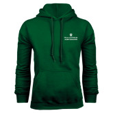 Dark Green Fleece Hood-Alumni Association Stacked