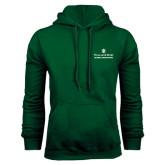 Dark Green Fleece Hood-Alumni Association Stacked