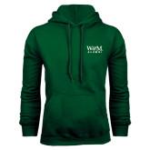 Dark Green Fleece Hood-W&M Alumni