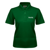 Ladies Dark Green Dry Mesh Polo-W&M