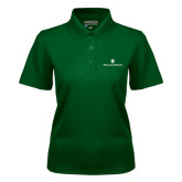 Ladies Dark Green Dry Mesh Polo-William and Mary
