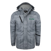 Grey Brushstroke Print Insulated Jacket-W&M