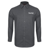 Red House Dark Charcoal Diamond Dobby Long Sleeve Shirt-W&M