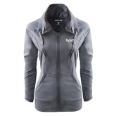 Ladies Sport Wick Stretch Full Zip Charcoal Jacket-W&M