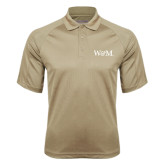 Vegas Gold Textured Saddle Shoulder Polo-W&M