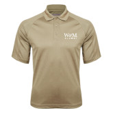 Vegas Gold Textured Saddle Shoulder Polo-W&M Alumni