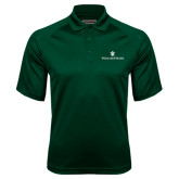 Dark Green Textured Saddle Shoulder Polo-William and Mary
