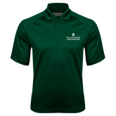 Dark Green Textured Saddle Shoulder Polo-Alumni Association Stacked