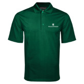 Dark Green Mini Stripe Polo-William and Mary