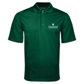 Dark Green Mini Stripe Polo-Alumni Association Stacked