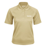 Ladies Vegas Gold Textured Saddle Shoulder Polo-W&M