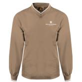 Khaki Executive Windshirt-Chartered Logo