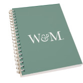 Clear 7 x 10 Spiral Journal Notebook-W&M