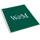 College Spiral Notebook w/Clear Coil-W&M