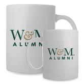 Alumni Full Color White Mug 15oz-W&M Alumni