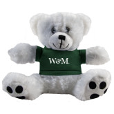 Plush Big Paw 8 1/2 inch White Bear w/Dark Green Shirt-W&M