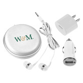 3 in 1 White Audio Travel Kit-W&M