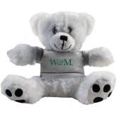 Plush Big Paw 8 1/2 inch White Bear w/Grey Shirt-W&M