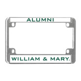 Metal Motorcycle License Plate Frame in Chrome-William and Mary, Alumni