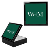 Ebony Black Accessory Box With 6 x 6 Tile-W&M