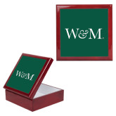 Red Mahogany Accessory Box With 6 x 6 Tile-W&M