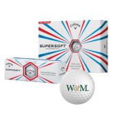 Callaway Supersoft Golf Balls 12/pkg-W&M