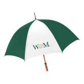 62 Inch Forest Green/White Umbrella-W&M