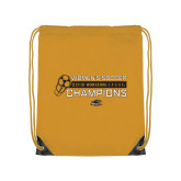 Gold Drawstring Backpack-2018 Womens Soccer Champions