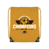 Gold Drawstring Backpack-2019 Womens Soccer Champs
